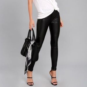 NWOT Free People Moto Black Vegan Leather Leggings